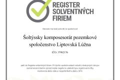 Certifikát spoločnosti